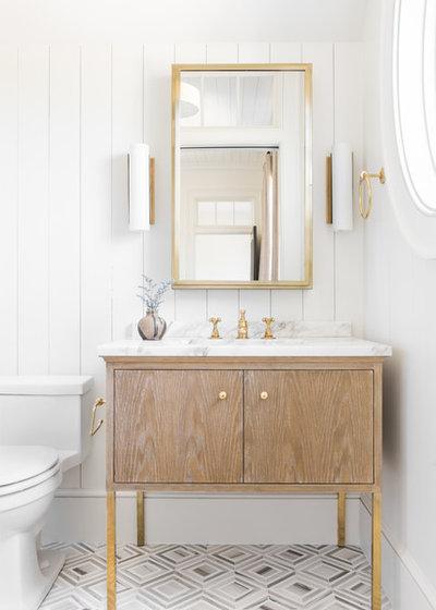 Beach Style Bathroom by Cortney Bishop Design