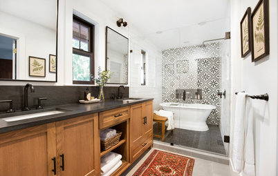 Master Bathroom Mixes Classic and Contemporary Styles