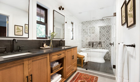 5 Bathrooms With Wet Room Areas for a Tub and a Shower