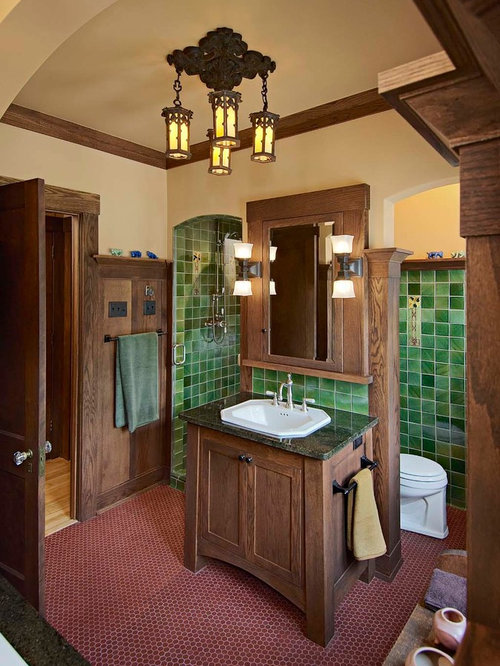 Craftsman style bathroom ideas pictures remodel and decor for Craftsman bathroom designs