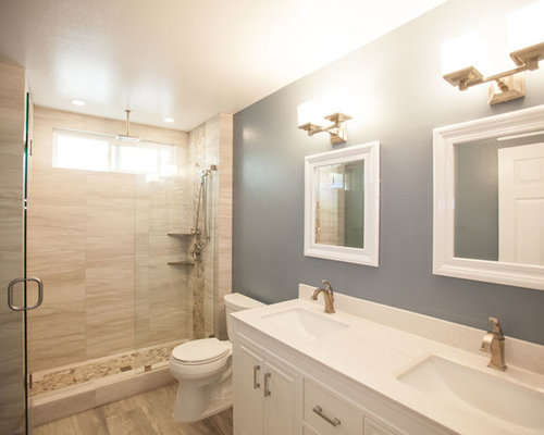 Modern Bath Design Ideas, Pictures, Remodel & Decor with Beaded Inset Cabinets