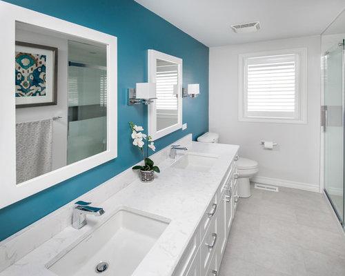 badezimmer mit linoleum und duschnische ideen design. Black Bedroom Furniture Sets. Home Design Ideas