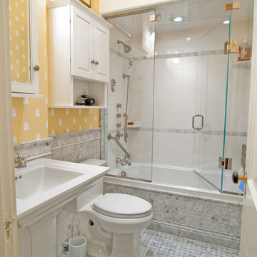 Kitchen and bath renovation in little Back Bay flat