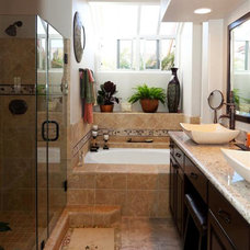 Traditional Bathroom by Reborn Cabinets Inc.
