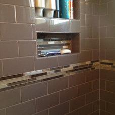 Transitional Bathroom by Granite Center