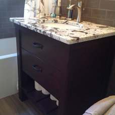 Transitional Bathroom by Granite Center