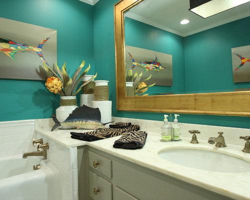 Tropical Bathroom Tile Ideas : Tropical bathroom design ideas renovations photos with