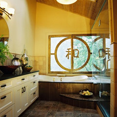 asian bathroom by Kitchen Planners