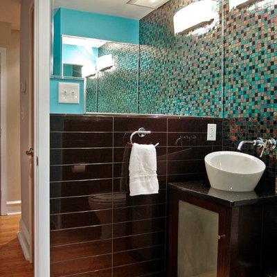 Minimalist mosaic tile bathroom photo in Philadelphia