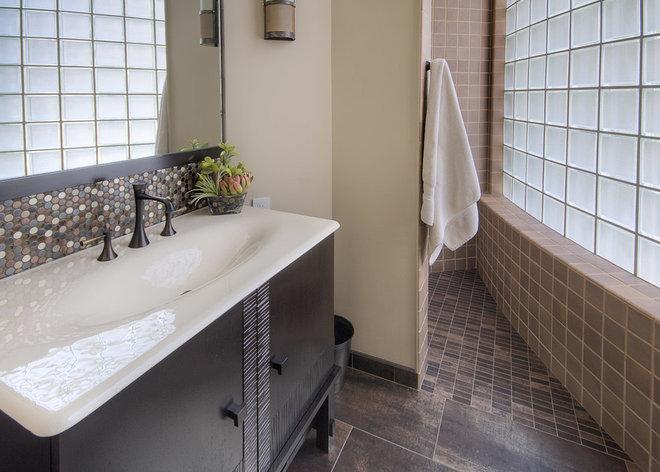 Contemporary Bathroom by Eide Construction, Inc. of Bellevue