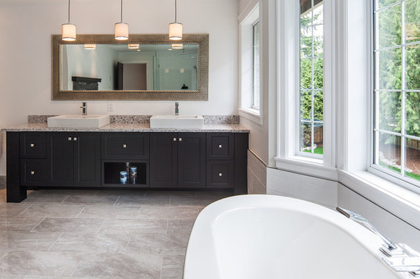 Traditional Bathroom by Kitchen Craft Cabinetry Vancouver and Victoria