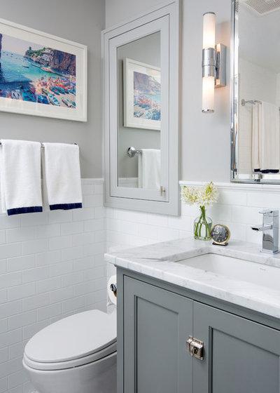 Transitional Bathroom by Nicholson Builders