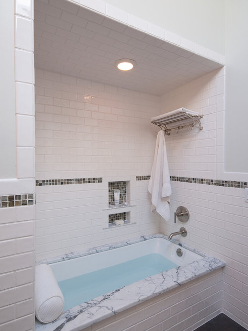 Mosaic Tile Accent Band Home Design Ideas Pictures