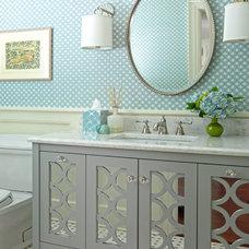 Traditional Bathroom by Carol Flanagan Interior Design LLC