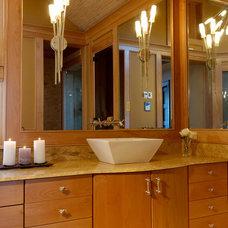 Asian Bathroom by Kitchen Designs by Ken Kelly, Inc. (CKD, CBD, CR)