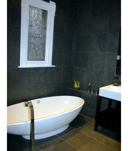 Modern Bathroom by Rebekah Zaveloff | KitchenLab