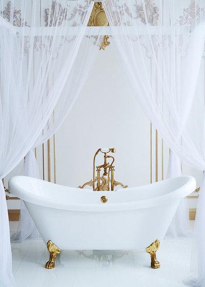 British Colonial Bathroom by United Constructors, Inc.