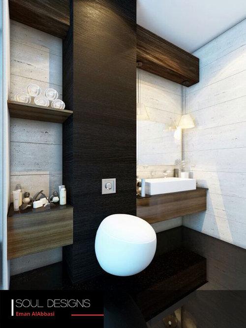 foto de cuarto de bao moderno grande con encimera de mrmol sanitario de