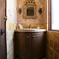 Mediterranean Bathroom by Handcrafted Cabinet Cabinet and Furniture Company