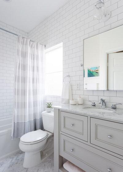 Transitional Bathroom by Marissa Cramer Interiors