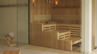 "KLAFS ""Premium Glass Front"" Sauna Cabin"