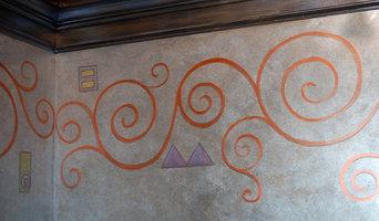 Klimt-inspired Powder Room