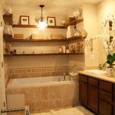 Eclectic Bathroom by Knapp Interiors, Inc.
