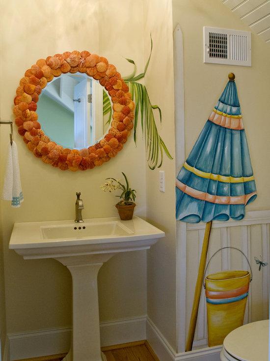 beach themed bathroom | houzz