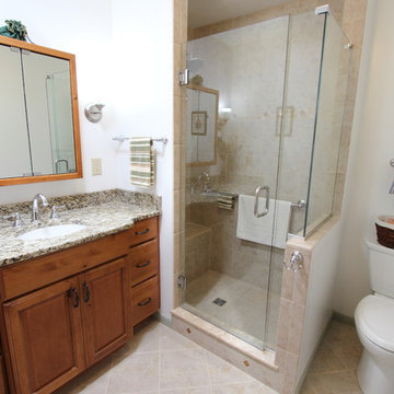 Knotty Alder Vanity with Tile Shower ~ Stow, OH