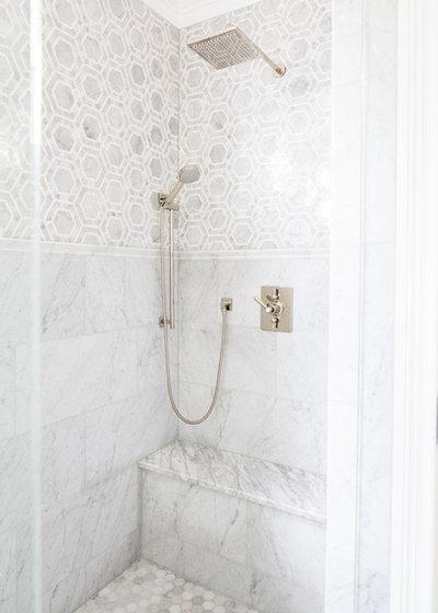 Simple Traditional Bathroom by Natalie Clayman Interior Design