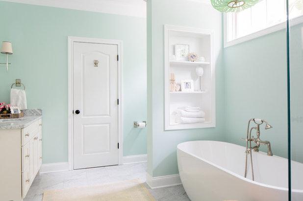 Perfect Traditional Bathroom by Natalie Clayman Interior Design