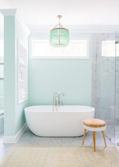 Traditional Bathroom by Natalie Clayman Interior Design