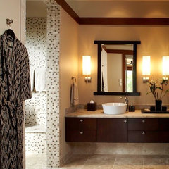 asian bathroom by Knudson Interiors