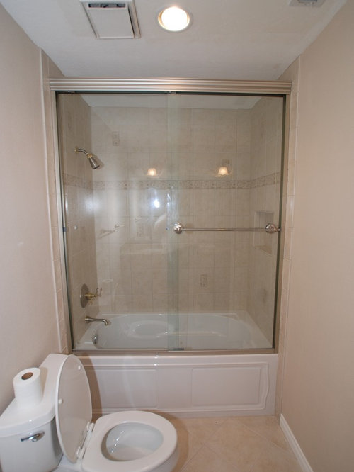 Kohler Devonshire Tub With Recessed Shampoo Shelf & Tall Shower Doors