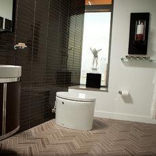 Modern Bathroom Kohler K-3492 Purist Hatbox toilet
