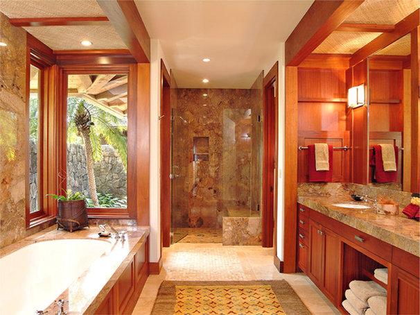 Tropical Bathroom by Shigetomi Pratt Architects, Inc.