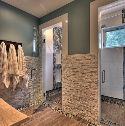 Transitional Bathroom by Tamara Rosenbloom Design LLC