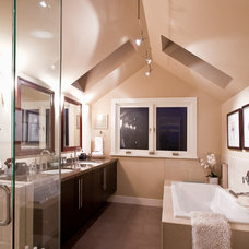 Contemporary Bathroom by Synthesis Design Inc.