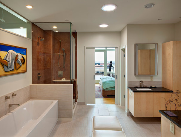 Contemporary Bathroom by Ellen Cassilly Architect