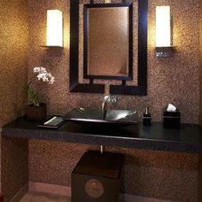 Tropical Bathroom by GM Construction, Inc.