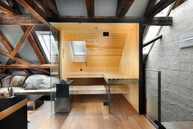 Rustikal Badezimmer by Prestige Saunas Ltd
