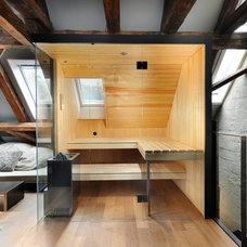 Rustic Bathroom by Prestige Saunas Ltd