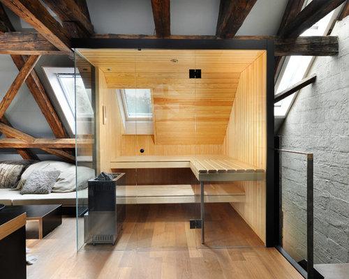 rustikale badezimmer mit sauna ideen f r die. Black Bedroom Furniture Sets. Home Design Ideas