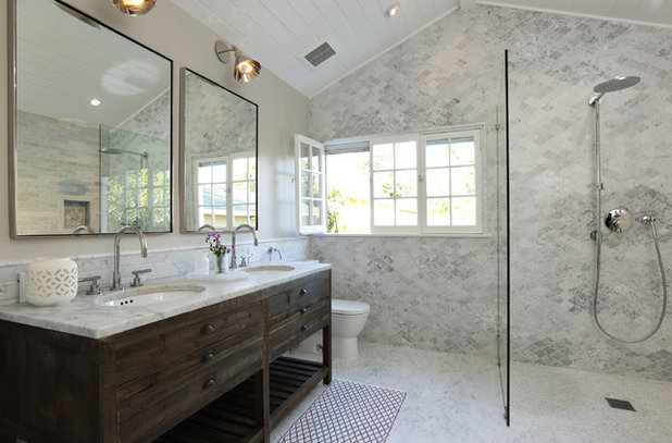 Elegant Transitional Bathroom By Lindsay Chambers Design