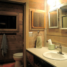 Rustic Bathroom by Reclaimed Space