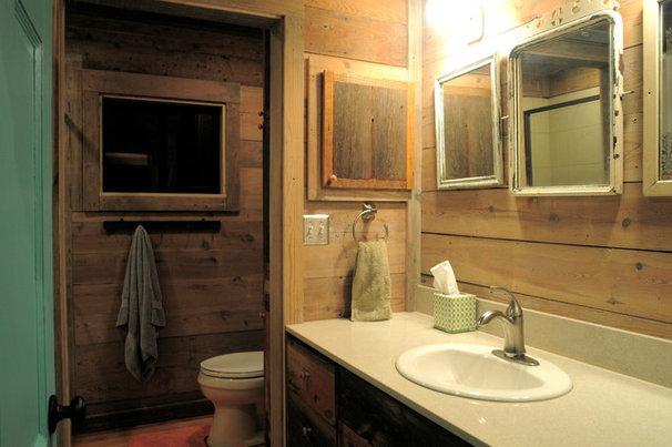 Rustic Bathroom by Reclaimed Space
