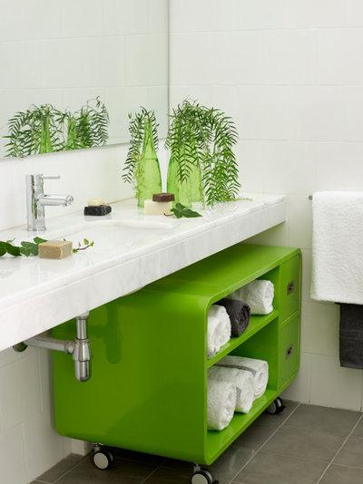 16 solutions originales pour ranger les serviettes de bain. Black Bedroom Furniture Sets. Home Design Ideas