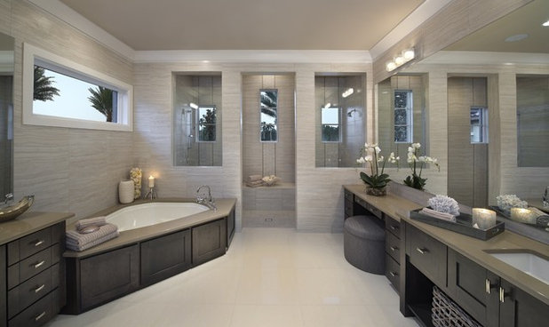 Contemporary Bathroom by Castle Harbour homes