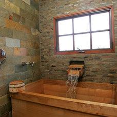 Asian Bathroom by Custom Design & Construction