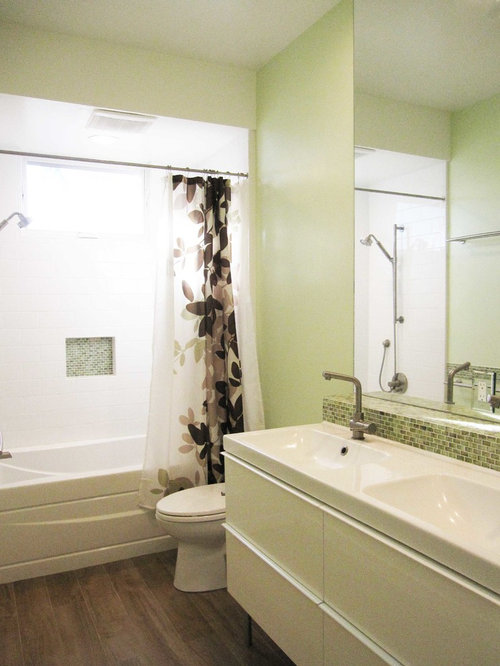 Three Quarter Bath Bathroom Design Ideas Pictures Remodel Decor With Green Tile